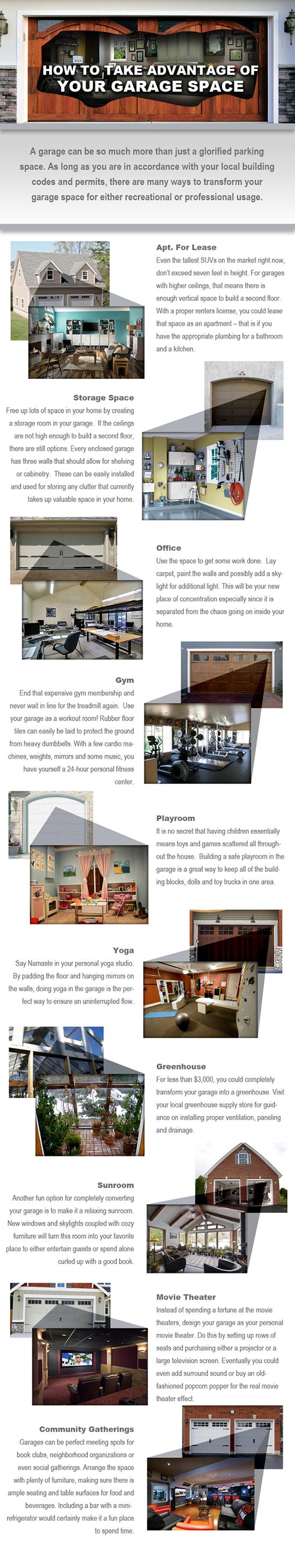 Garage door space alternatives - Infographic