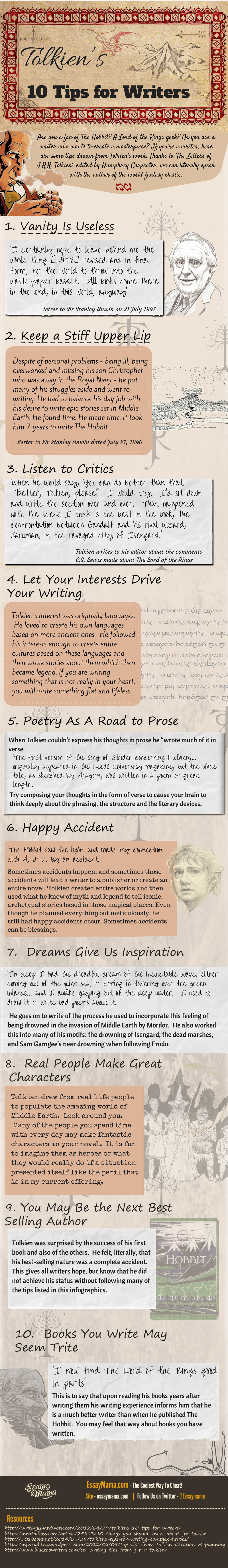 Writing Tips Infographic