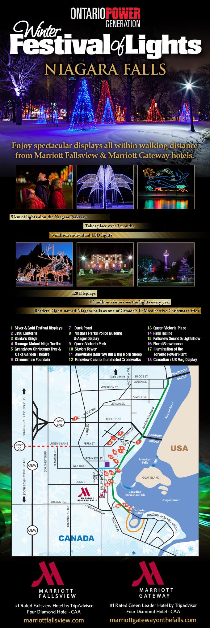 Winter Festival of Lights infographic