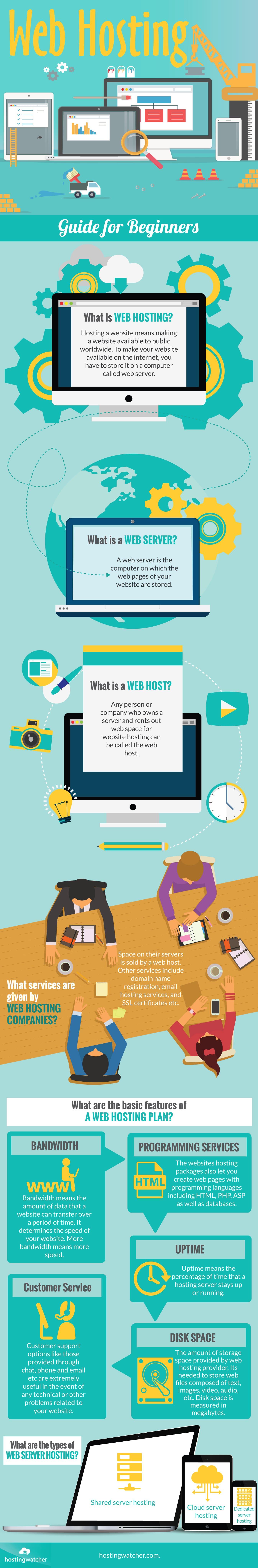 web hosting infographic