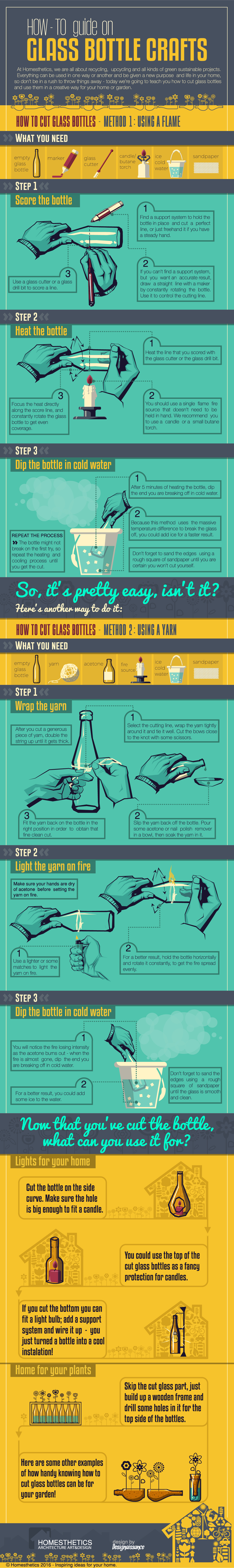 Glass Bottle Crafts Infographic