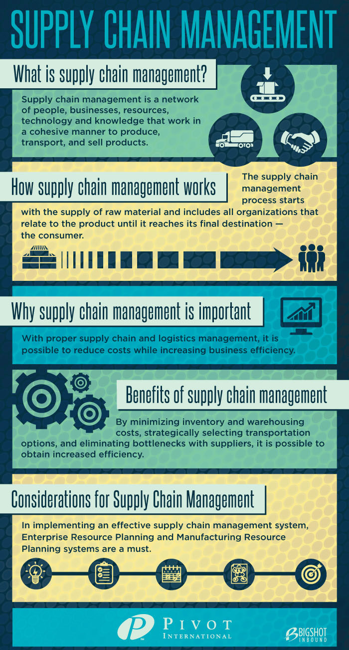Supply Chain Management Infographic Post