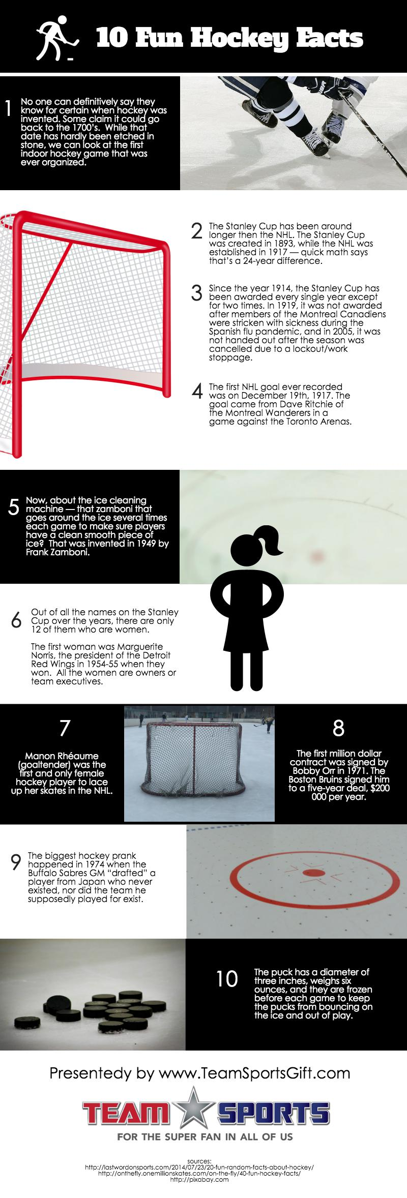Hockey facts infographic