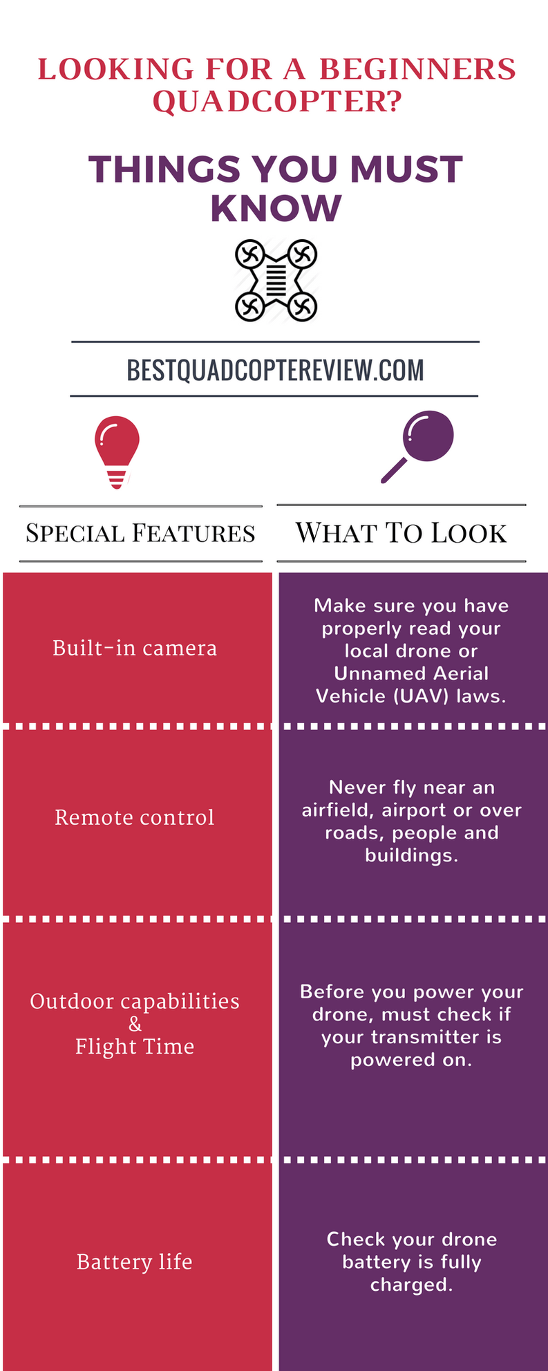 Quadcopter infographic