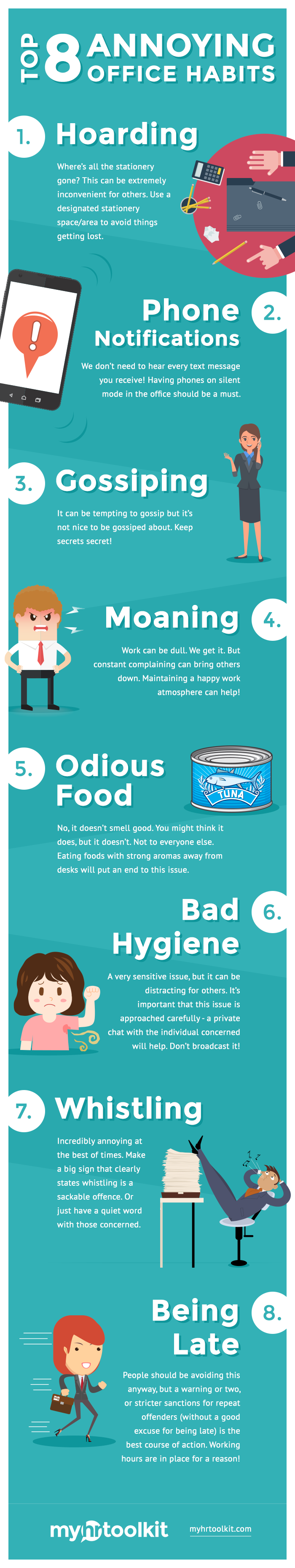 annoying coworkers infographic