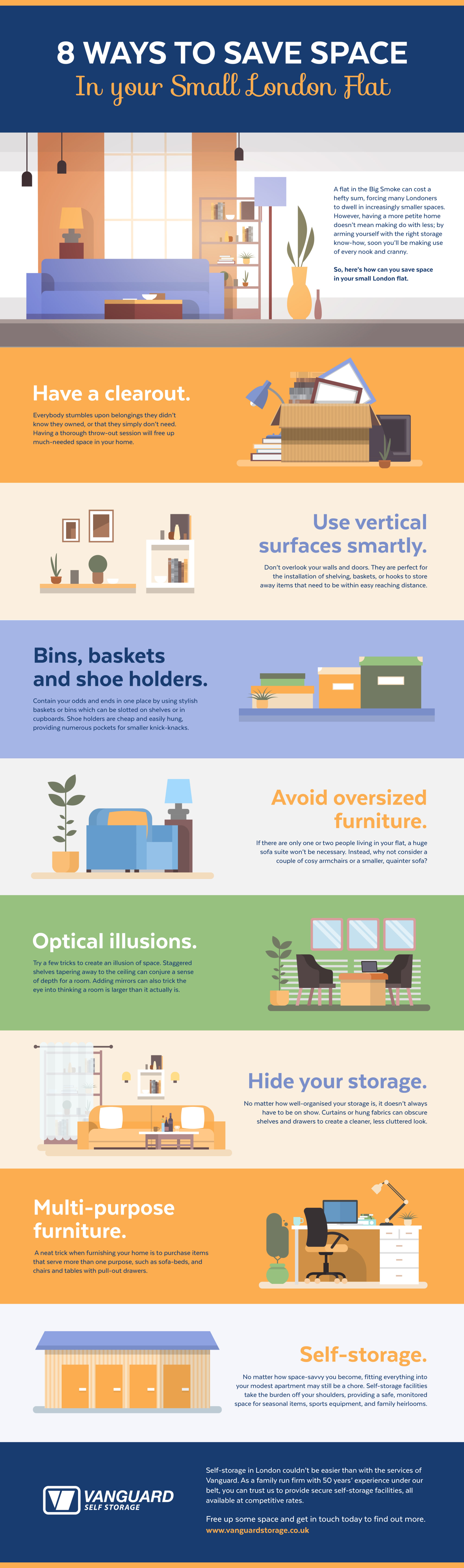 Home space saving infographic