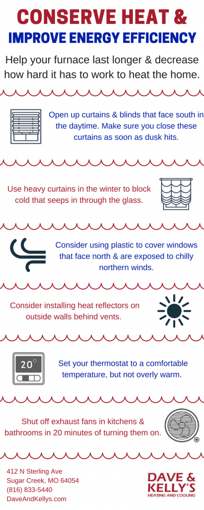 conserving heat energy infographic